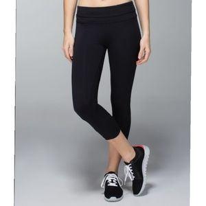 Lululemon Run Inspire Crop II-Black Luxtreme